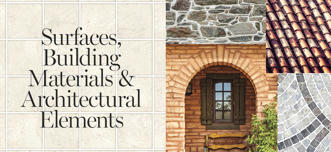 Surfaces, Building Materials & Architectural Elements